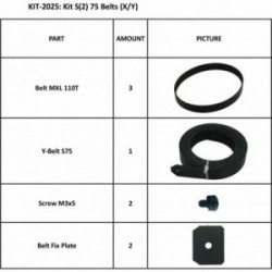 KIT S2 75 BELTS (X/Y)