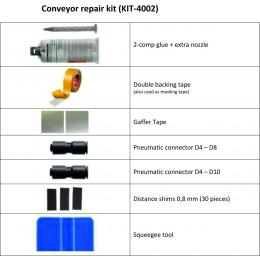 Two-component conveyor repair kit