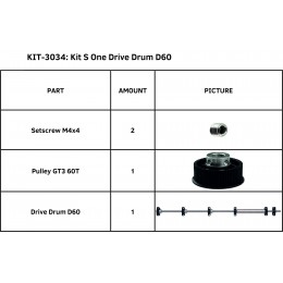 KIT S ONE DRIVE DRUM D60