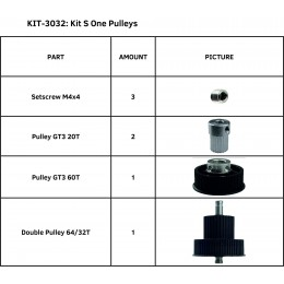 KIT S ONE PULLEYS