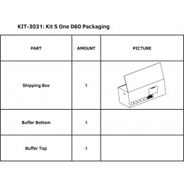 KIT S ONE D60 PACKAGING