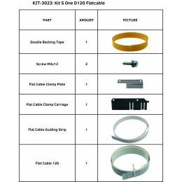 KIT S ONE D120 FLATCABLE