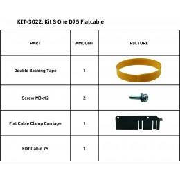 KIT S ONE D75 FLATCABLE