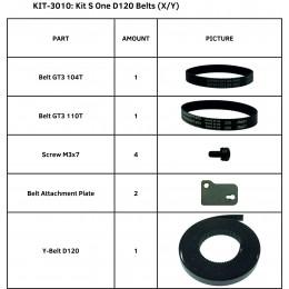 KIT S ONE D120 BELTS (X/Y)