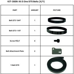 KIT S ONE D75 BELTS (X/Y)