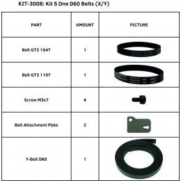 KIT S ONE D60 BELTS (X/Y)