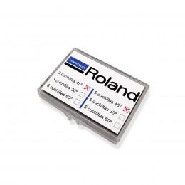 Boîte de 3 lames KOKA 45º pour ROLAND / GCC