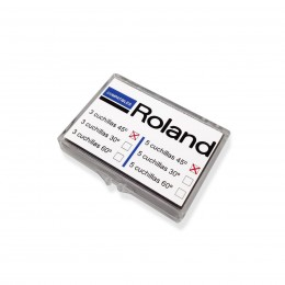 Caja 3 cuchillas KOKA 45º para ROLAND / GCC