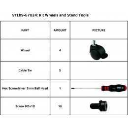 KIT WHEELS AND STAND TOOLS